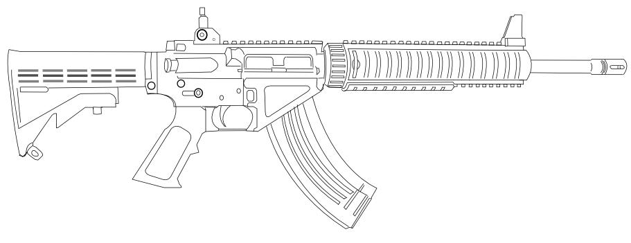 Военное оружие раскраска