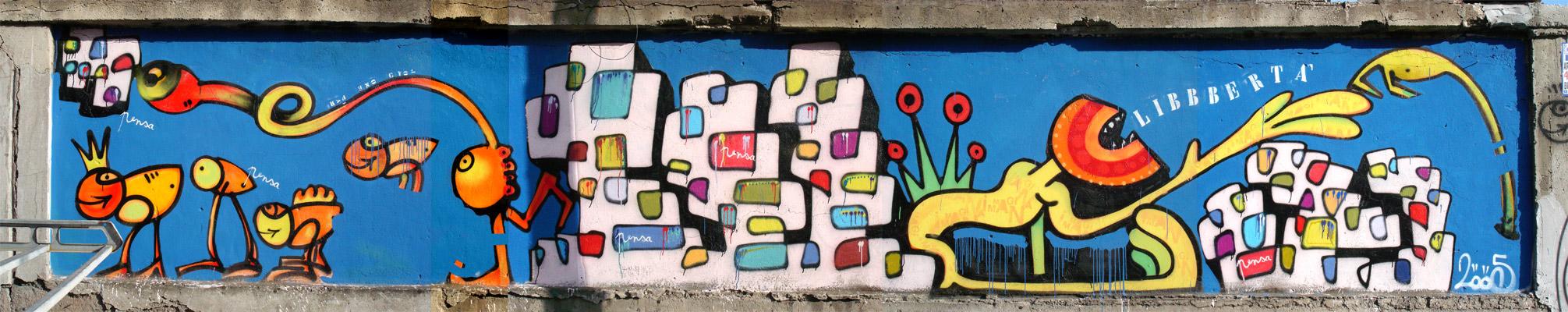 Sprayer for 18th street gang mural