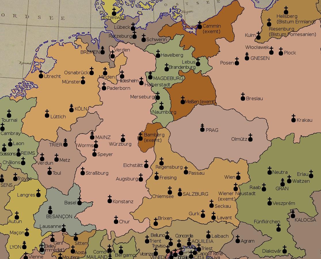 Bischofssitze Deutschland