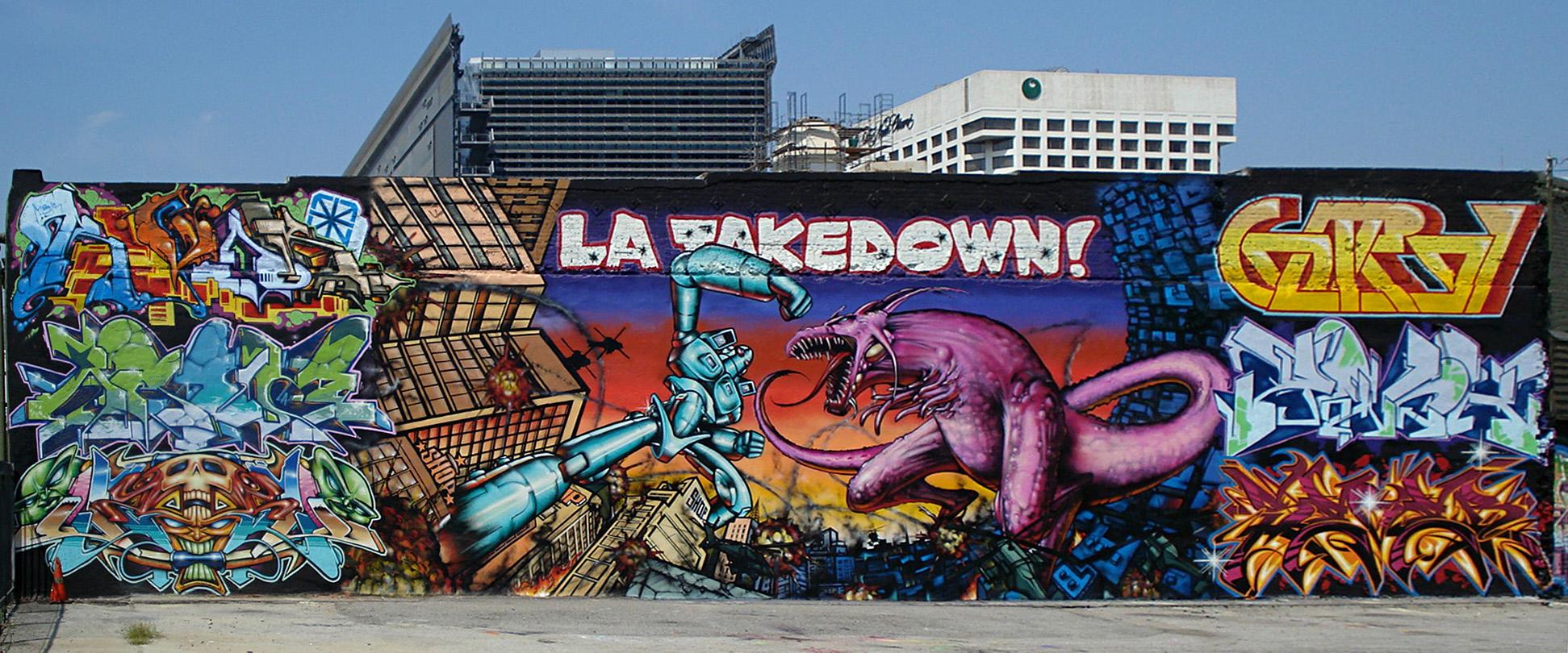 Writing for 18th street gang mural