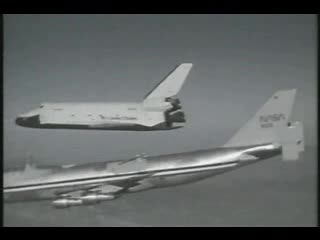 Space Shuttle Enterprise 747 separation.ogg