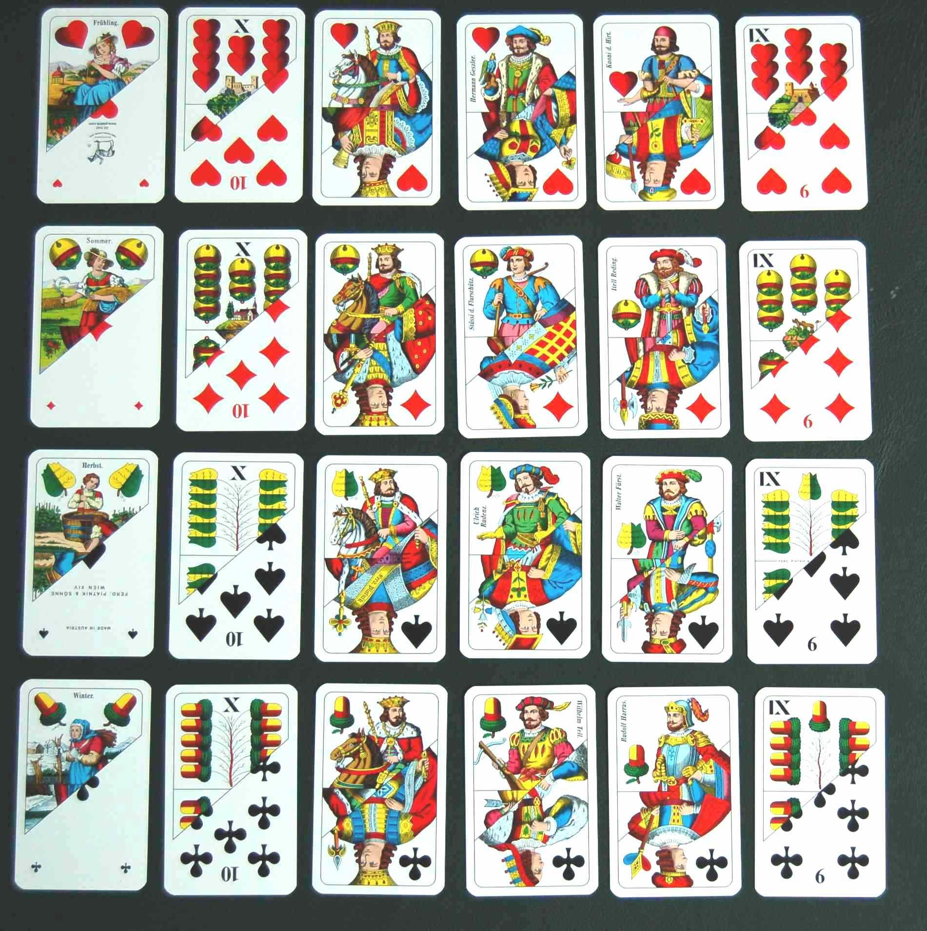 Spielkarten Namen