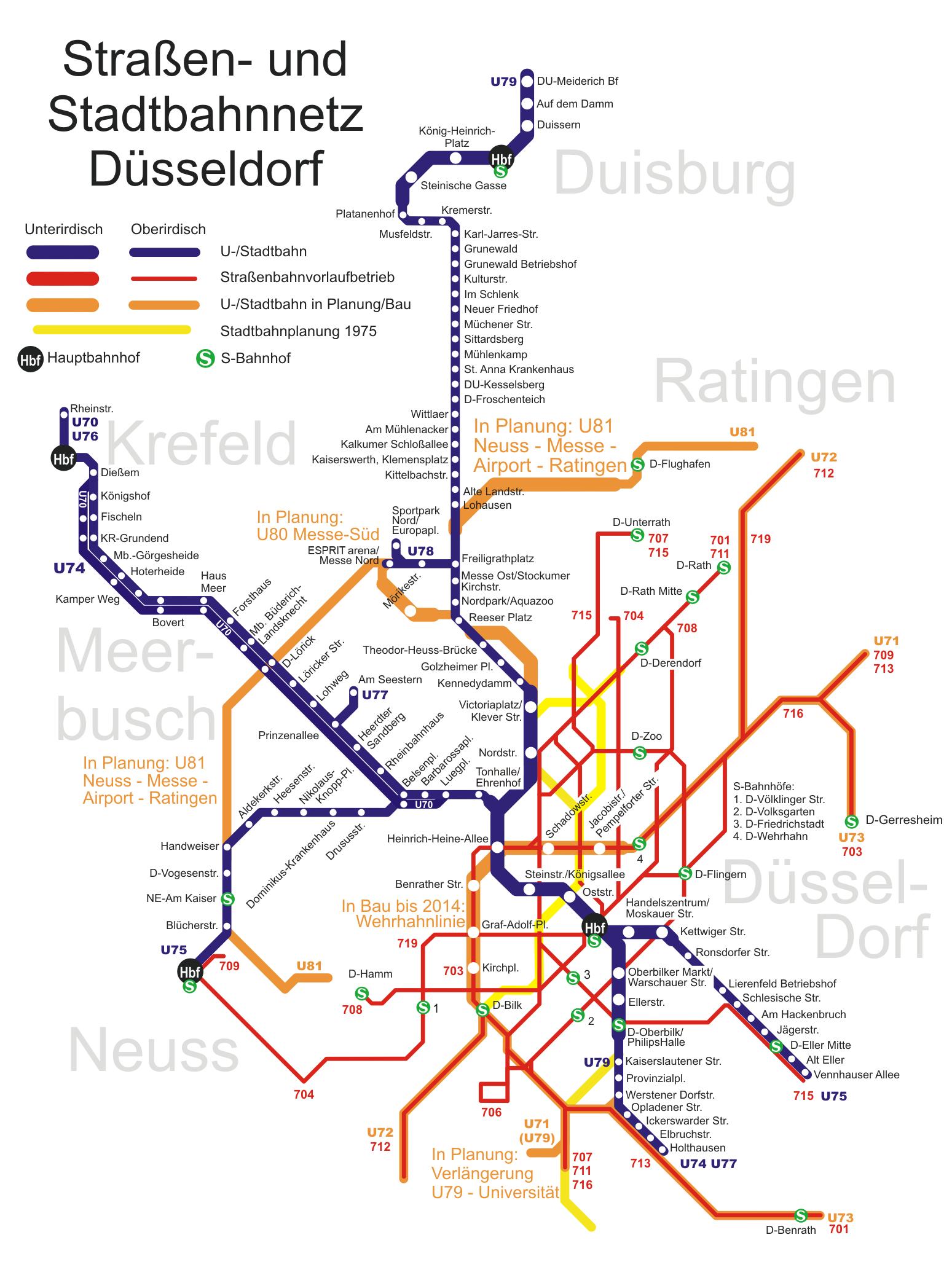 Fahrplan Düsseldorf