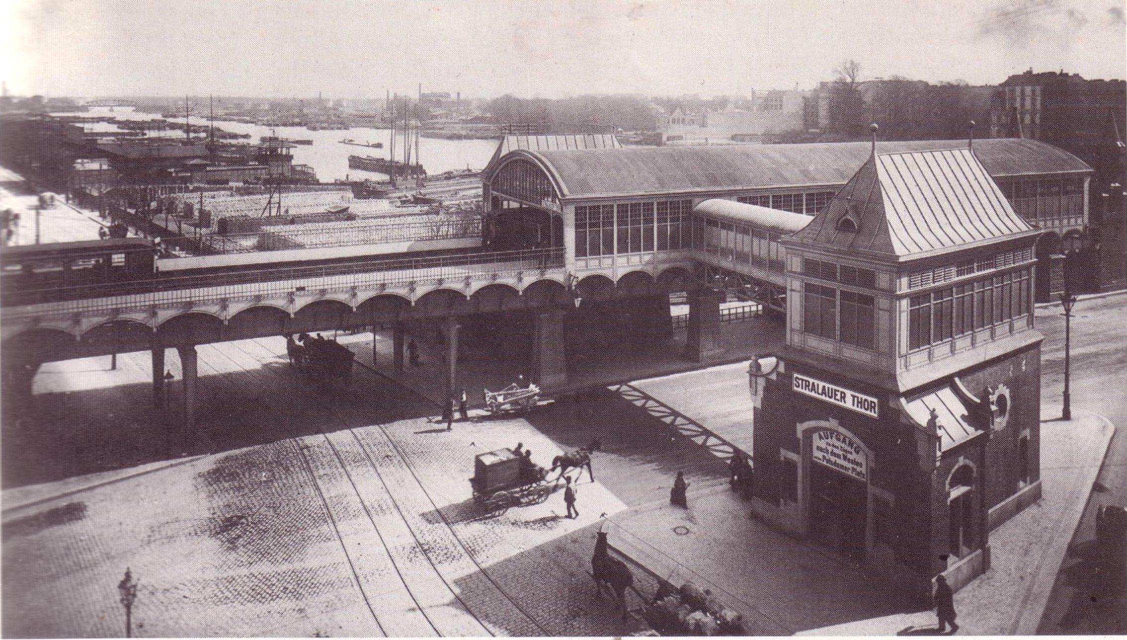 U Bahn Berlin Stralauer Tor Osthafen 1902