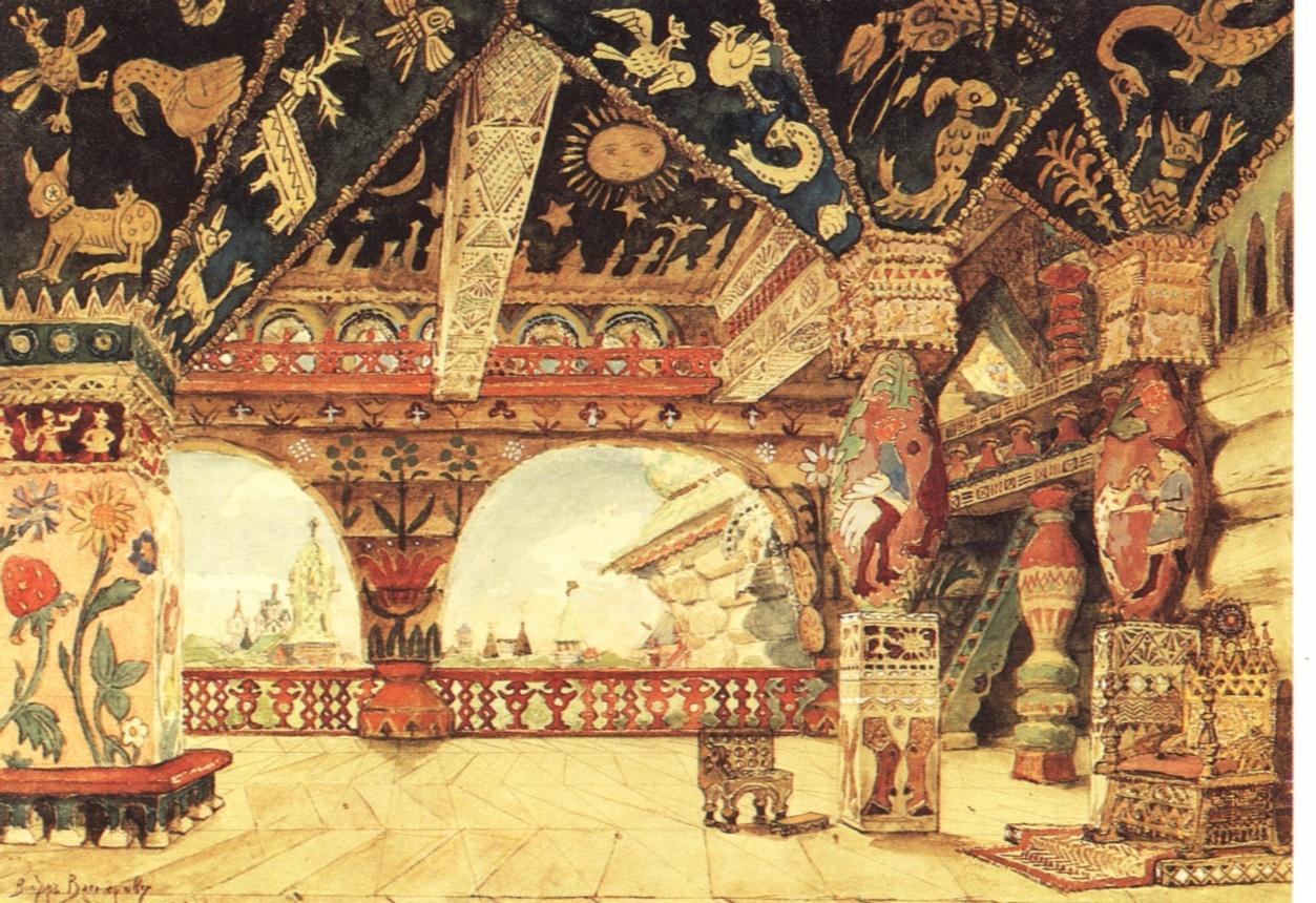 Palace of Tsar Berendei. Bühnenbild für Rimski-Korsakows Oper ...: de.academic.ru/dic.nsf/dewiki/1465155