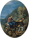 'The Flight into Egypt', oil on silvered copper painting by Adam Elsheimer.jpg