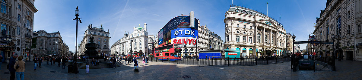 Panorama des Piccadilly Circus