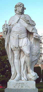Statue Alfons' VII. in Madrid