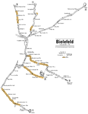 Схема метро Билефельда.