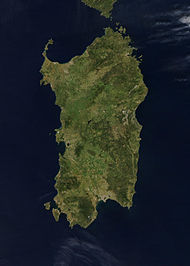 NASA-Satellitenbild Sardiniens