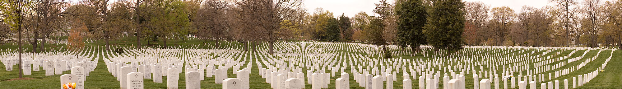 Panorama einer Sektion des Arlington National Cementery.