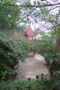 Rastplatz am Gushan in China