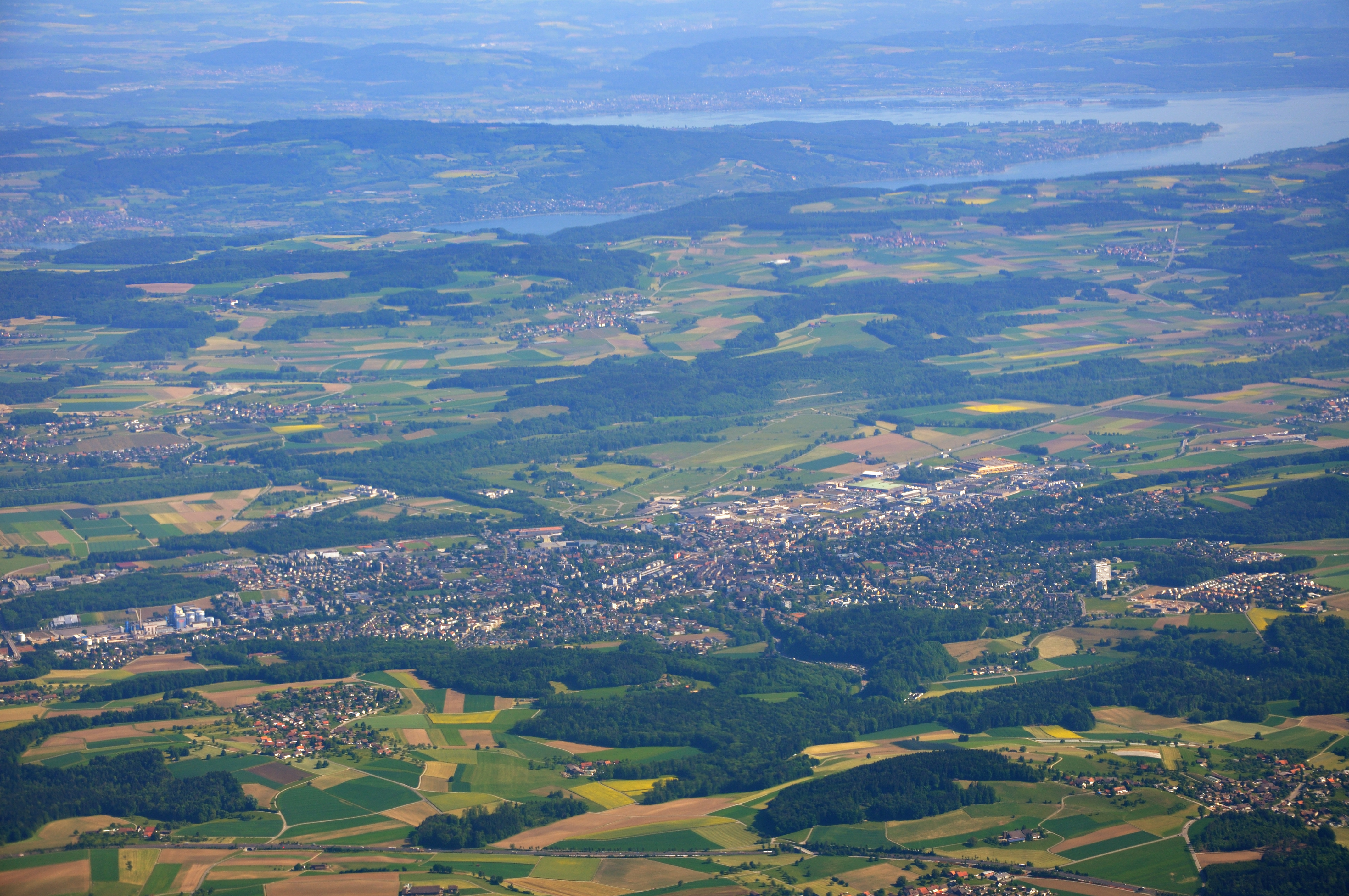 Frauenfeld Switzerland  city photos gallery : Blick auf Frauenfeld, im Hintergrund der Bodensee