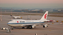 Eine Boeing 747-400 der Air China