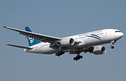 Eine Boeing 777-200ER der Air New Zealand