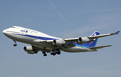 Boeing 747-400 der All Nippon Airways in Narita