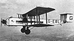 Armstrong Whitworth A.W.154 Argosy Mk I (1926)