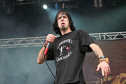 Sänger Randy Blythe auf dem With-Full-Force-Festival 2007