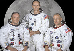 v.l.n.r. Neil Armstrong, Michael Collins, Buzz Aldrin