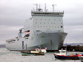 RFA Lyme Bay in Portland 2007