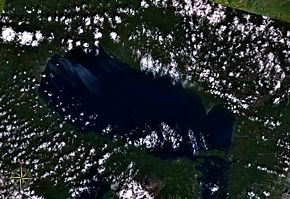 Satellitenbild des Becharof Lake