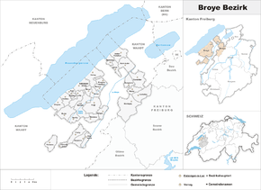 Karte von District de la Broye