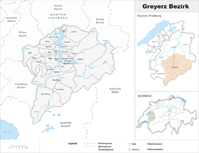 Karte von District de la Gruyère