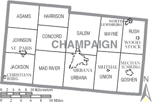 Map of Champaign County Ohio With Municipal and Township Labels.PNG