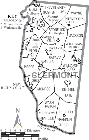 Map of Clermont County Ohio With Municipal and Township Labels.PNG