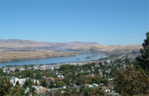 The Dalles am Columbia River, vom Kelly Viewpoint gesehen