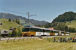 GoldenPass-Panoramic-Express bei Rougemont