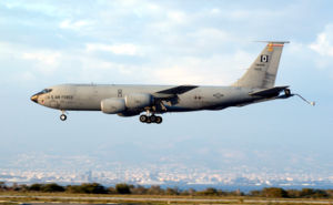 Eine KC-135R der United States Air Forces in Europe