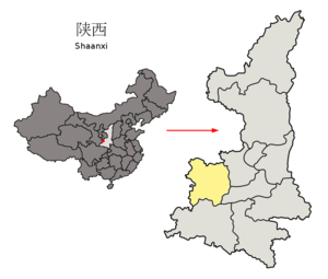 Location of Baoji Prefecture within Shaanxi (China).png