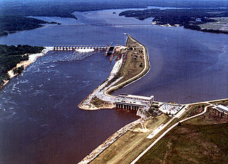Millers Ferry Lock and Dam am Alabama River