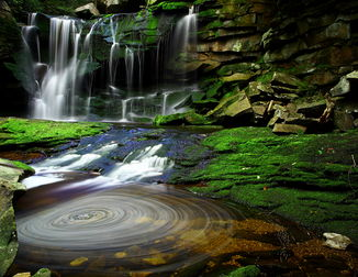 Der Elakala-Wasserfall am Blackwater River in West Virginia, USA.