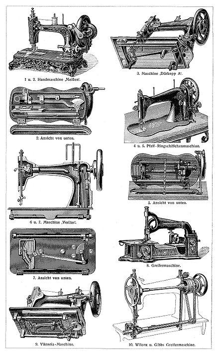 Funktionsweise der Nähmaschine -> Nähmaschine Funktionsweise