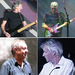 Clockwise from top left: Roger Waters, David Gilmour, Rick Wright and Nick Mason