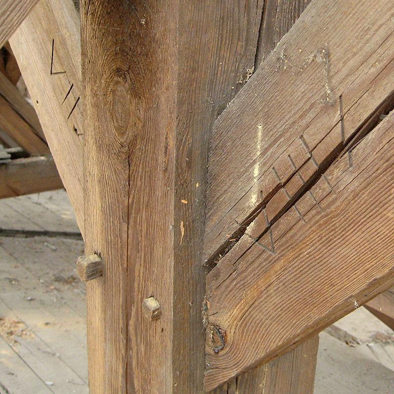 Abbundzeichen for Holzverbindungen zimmermann