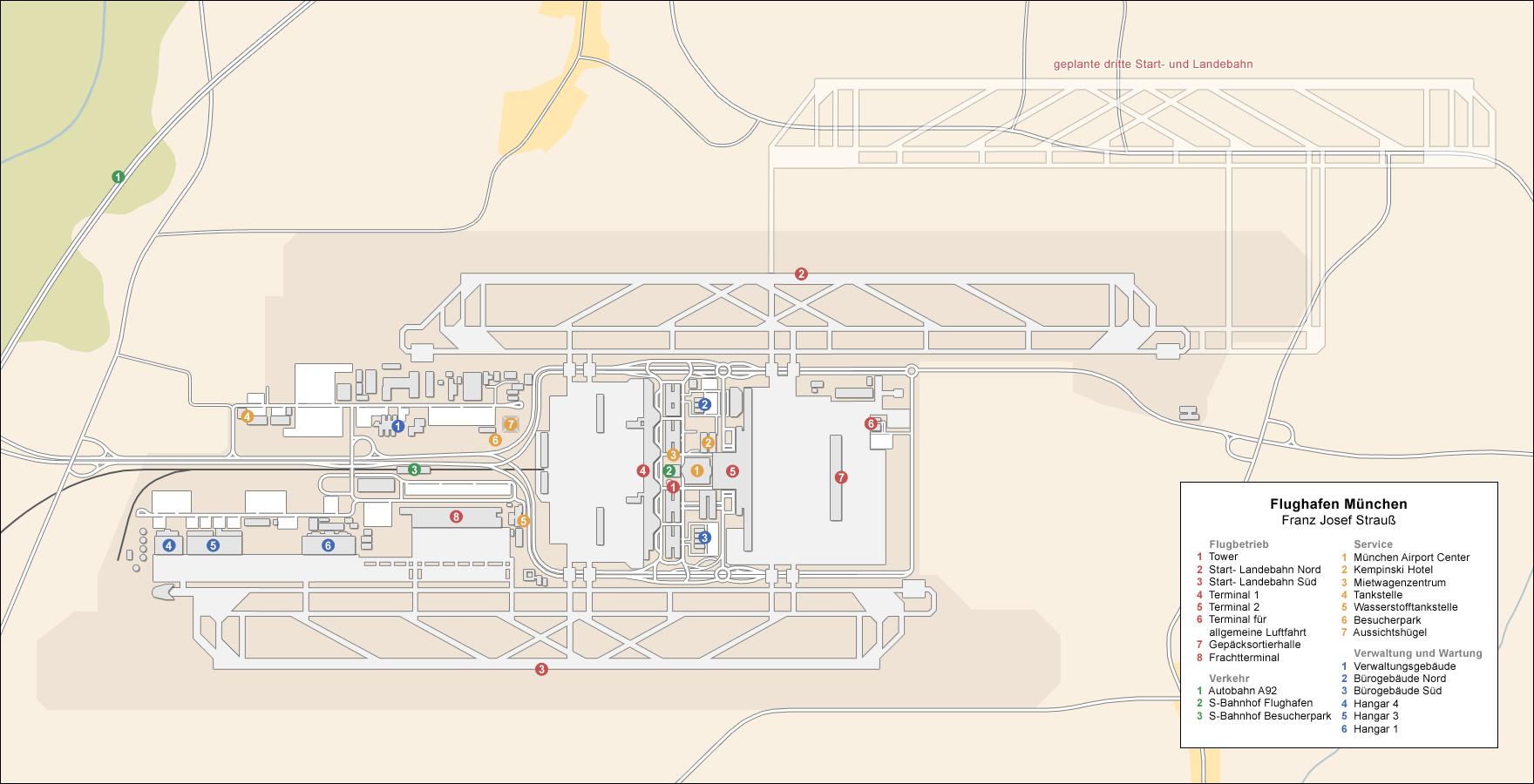 Flughafen M 252 Nchen Franz Josef Strau 223