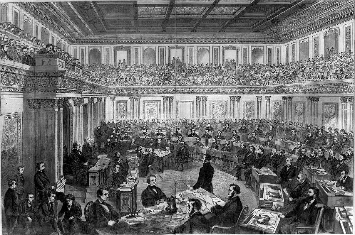 impeachment of andrew johnson Definition: the impeachment of andrew johnson commenced on monday, february 24, 1868, when the house of representatives of the congress of the united states resolved to impeach andrew johnson, president of the.