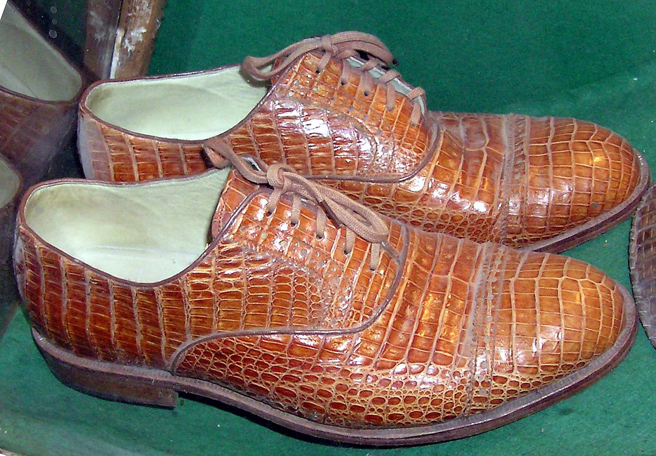 Крокодиловые туфли 10