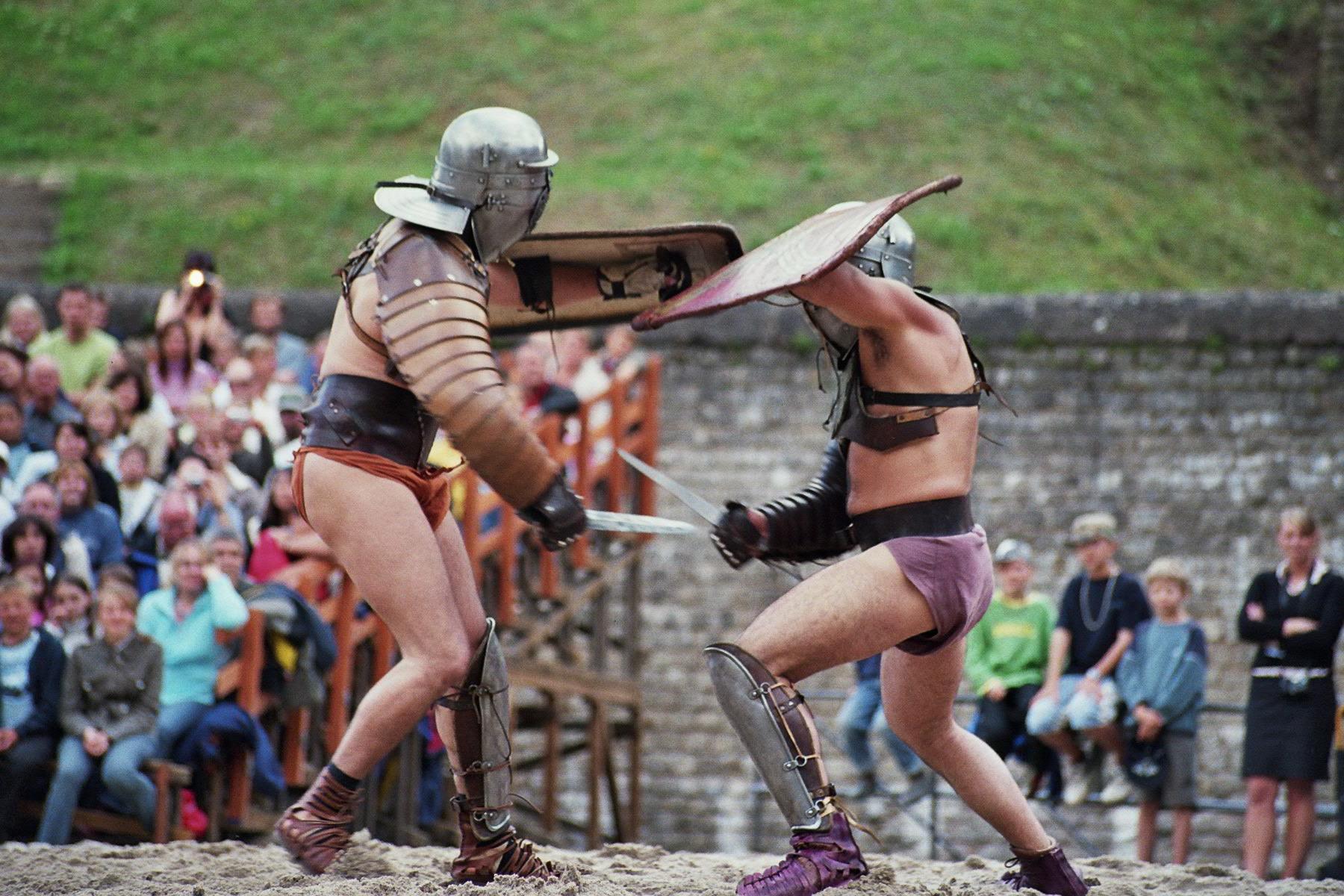 Arbeitsblatt Vorschule römische spiele : Gladiatorenku00e4mpfe