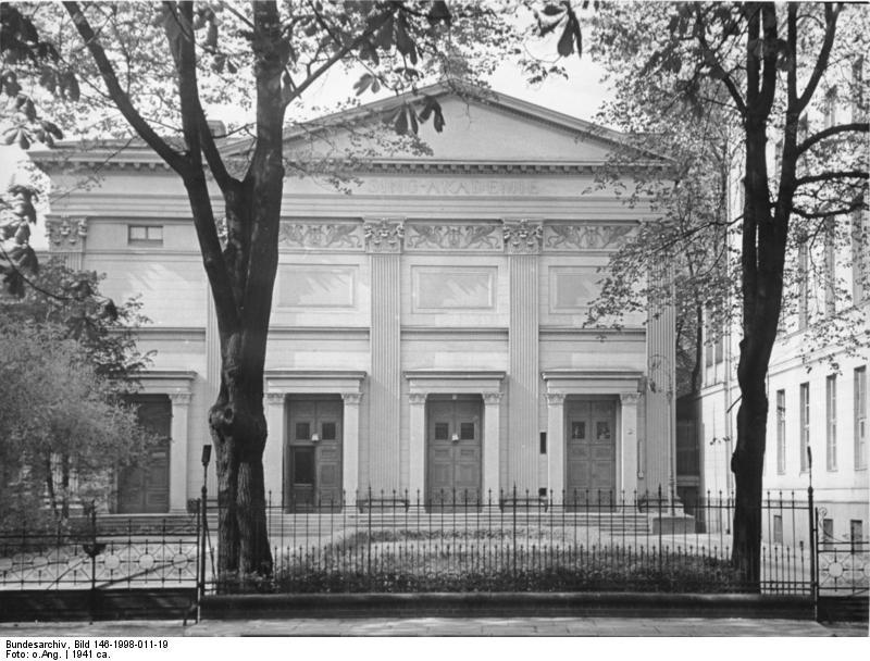 Gebäude der sing akademie 1941 mit dem seitenanbau links von martin