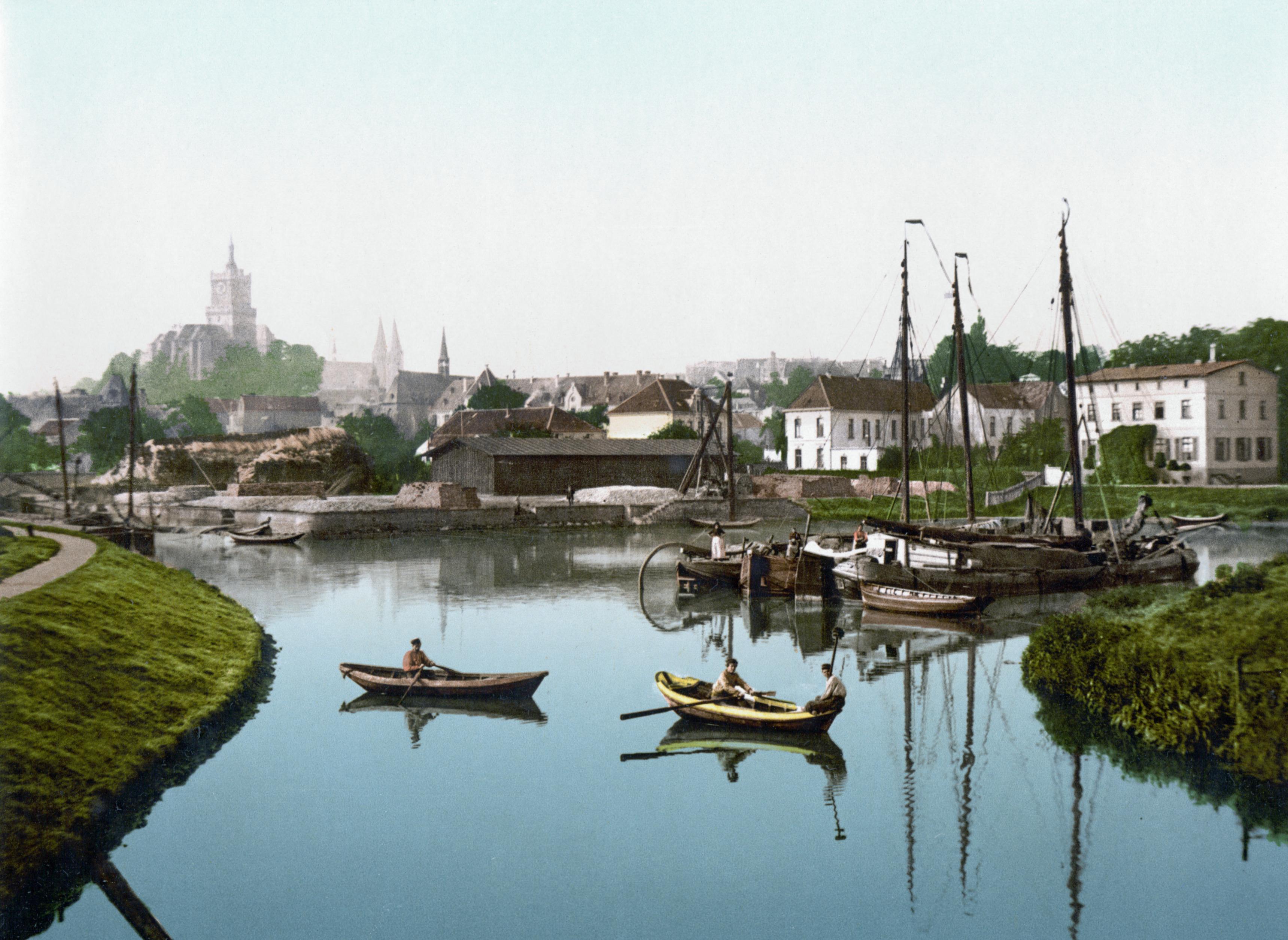 - Cleve_Stadt_und_Hafen_(um_1895)