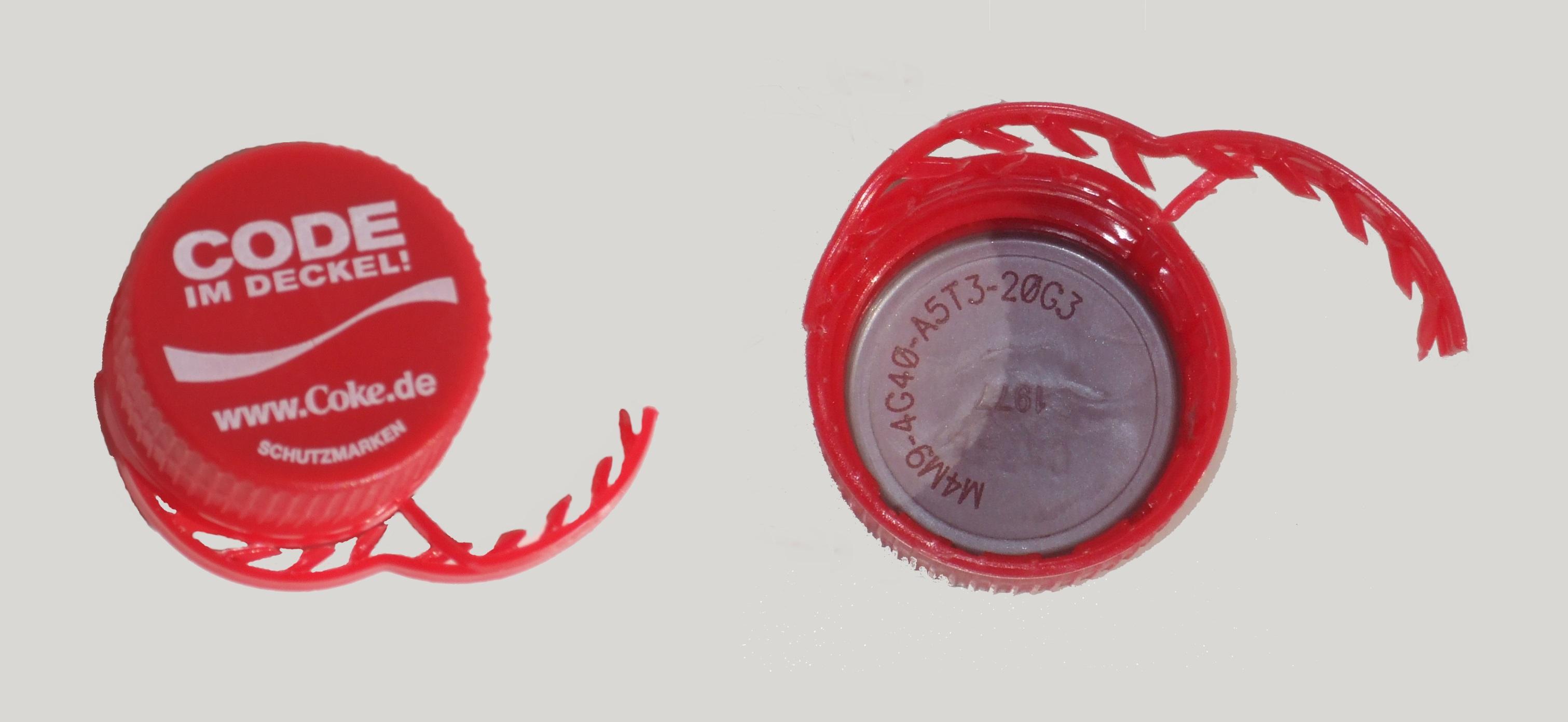 Cola Deckel Code