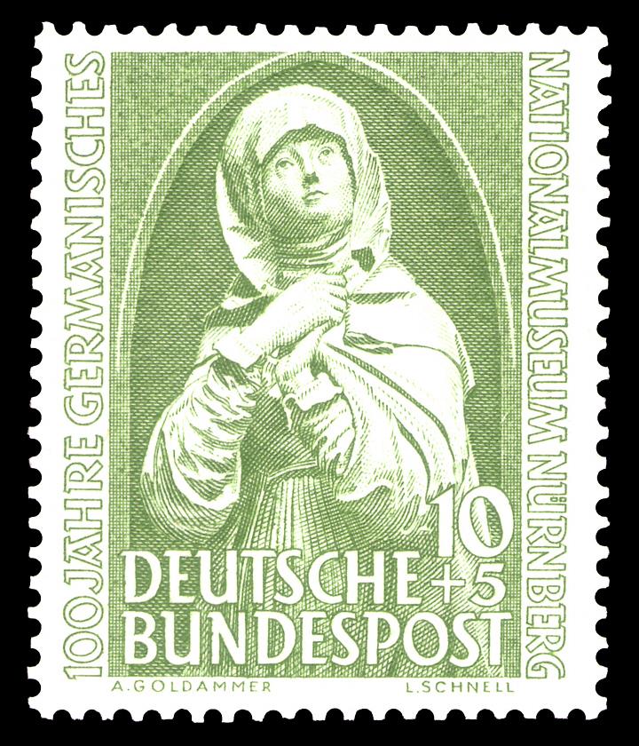 Briefmarken jahrgang 1952 der deutschen bundespost