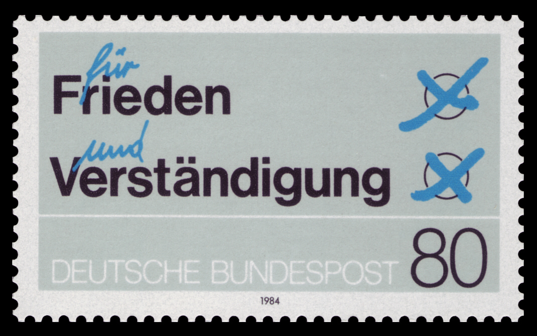 briefmarken jahrgang 1984 der deutschen bundespost. Black Bedroom Furniture Sets. Home Design Ideas