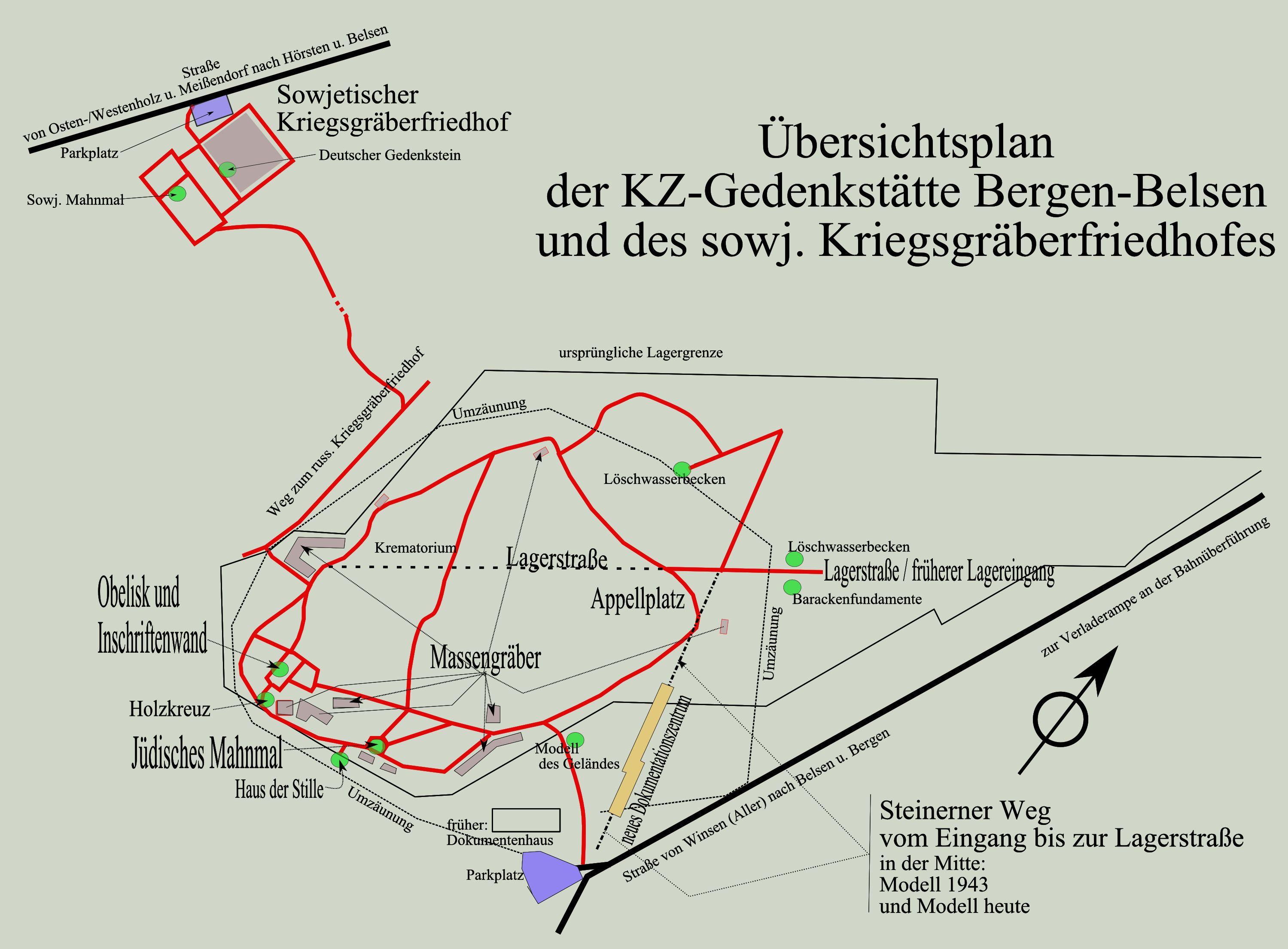 Kz-gedenkstätte und sowjetischer kriegsgefangenenfriedhof