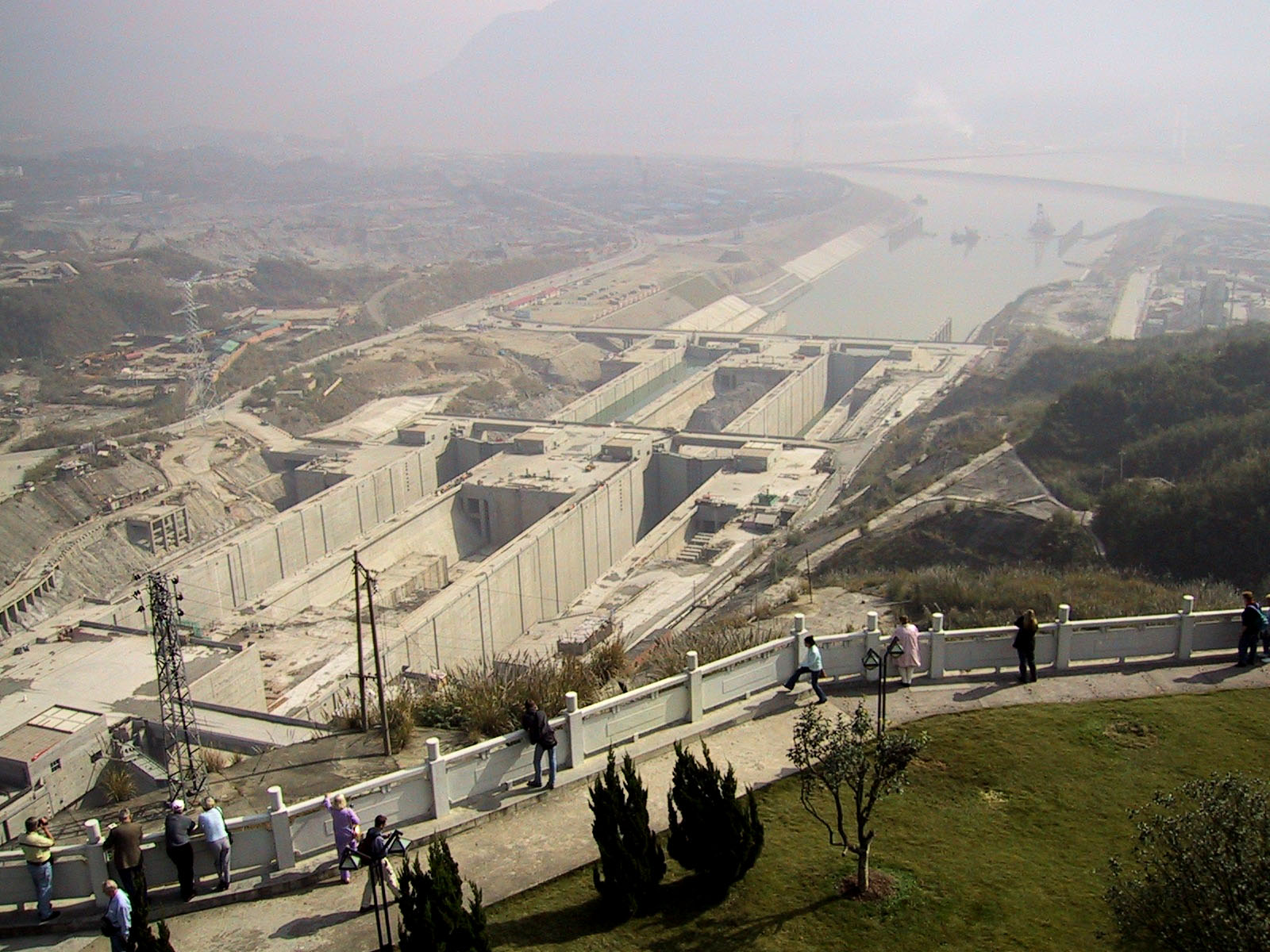 Фото строительства плотины три ущелья 2