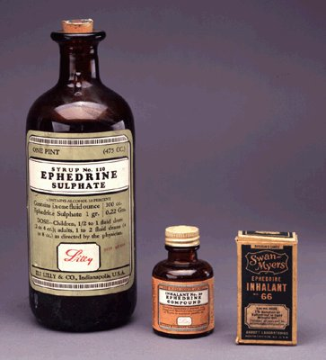 Ephedrine from salt lick
